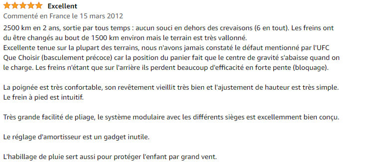 avis excellent Poussette Bébé Confort High Trek 3 Roues: