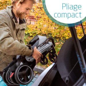 Pliage compact poussette